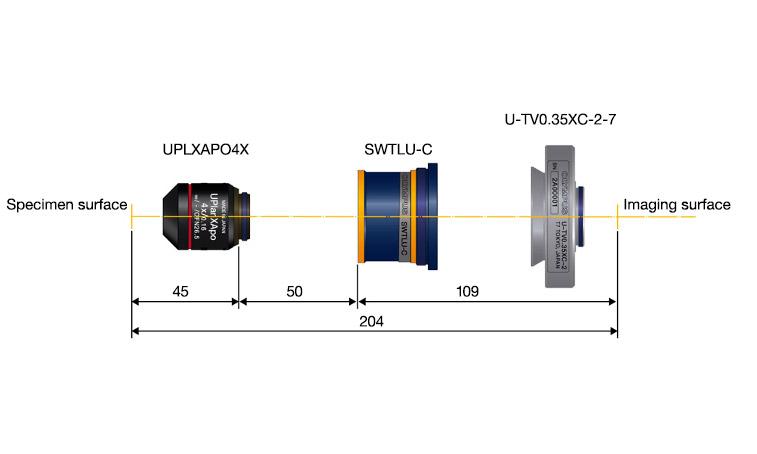Système optique compact pour un dispositif d'imagerie microscopique