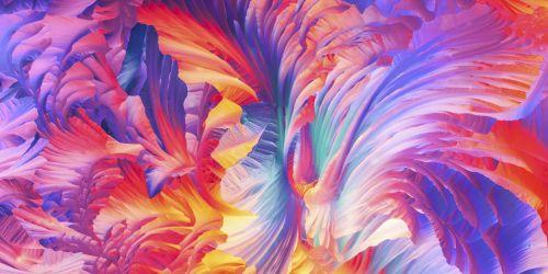 L-グルタミン酸とベータアラニンの結晶の鮮やかなパノラマ画像